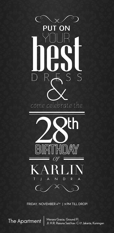 Karlin Tjandra Birthday Invitation Card